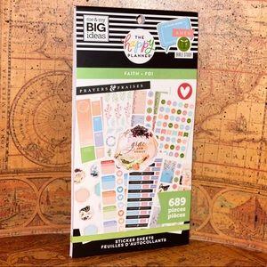 "Happy Planner ""Faith Be Still"" Stickers book"